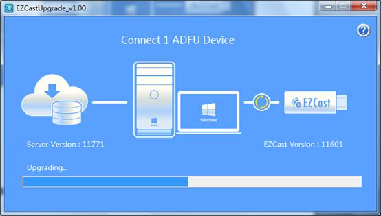 PC tools for updating EZCast firmware